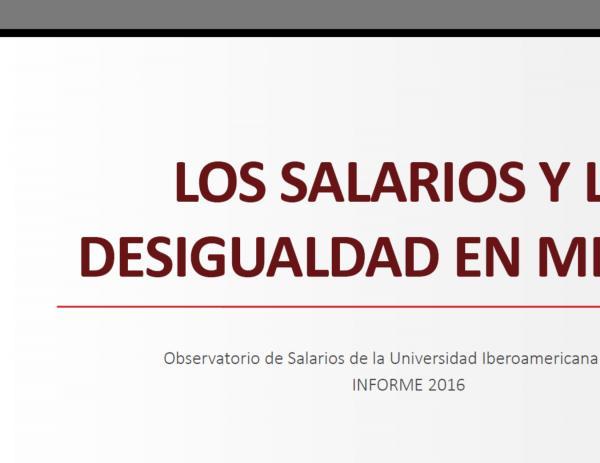 PRESENTACIÓN DEL INFORME 2016 DEL OBSERVATORIO DE SALARIOS