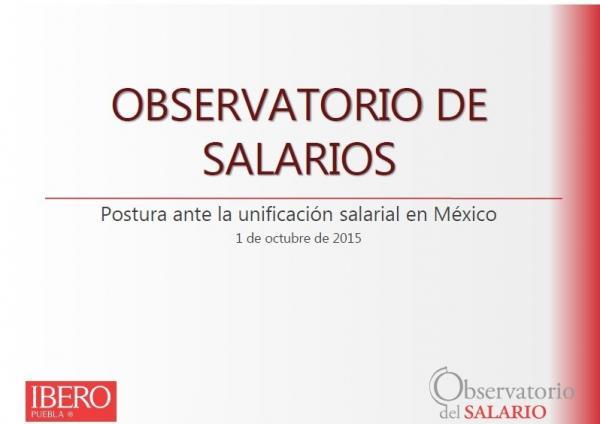 Postura ante la unificación salarial en México
